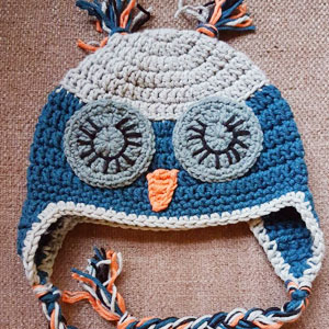 blue owl beanie