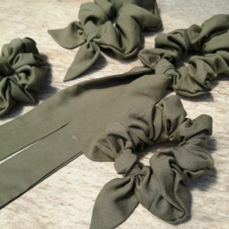 Olive Coloured Scrunchie