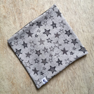 Kids Grey with Black and Grey Stars Snood