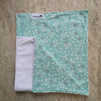 Mint Flower Celebration Burp Cloth
