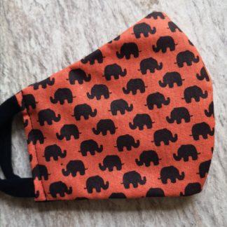 Orange Elephant Kids Face Mask