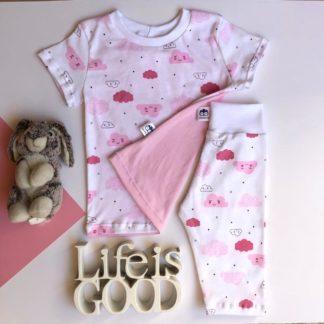 Pink Clouds Pyjama Set Lielieboo