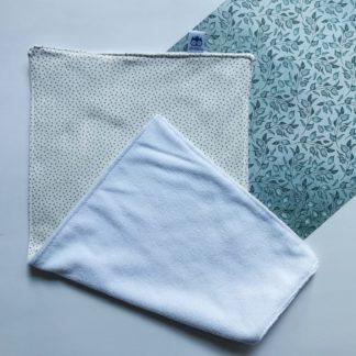 Cream and Grey Spots Burp Cloth Lielieboo
