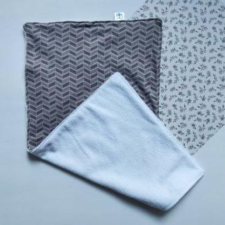 Grey Chevron Burp Cloth Lielieboo